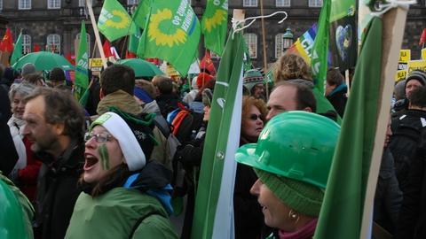 'Grøn blok' af tyskere til klimademonstration i København. (Foto: greens_climate / Wikimedia Commons)