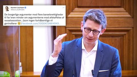 Screenshot fra Folketingets TV.