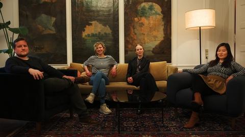 Panelet i Den Blå Time 13/3: Astrid Johanne Høg, Cille Hald Egholm og Karina Bergman